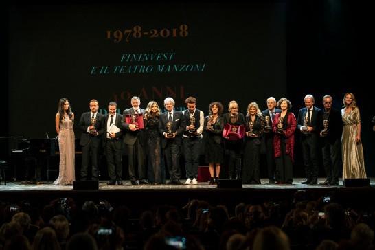 Gruppo attori premiati
